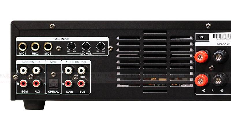 Cục đẩy liền vang BKsound DP3600 mặt sau 2
