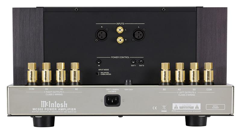 Power Amply McIntosh MC302 mặt sau
