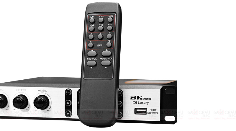 Vang số Bksound X6 Luxury điều khiển 1