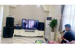 Dàn karaoke gia đình anh Duy ở Cái Răng, Cần Thơ (PRX 415M, PRX418S, KVS700, Xli2500, DK 6000 Pro, VM300, Plus 4TB)