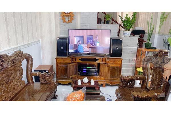 Dàn karaoke gia đình anh Hòa ở Tân Uyên, Bình Dương (Pasion 10, Paramax 2000, BIK VM620A, FX -9MK, U900 PlusX)