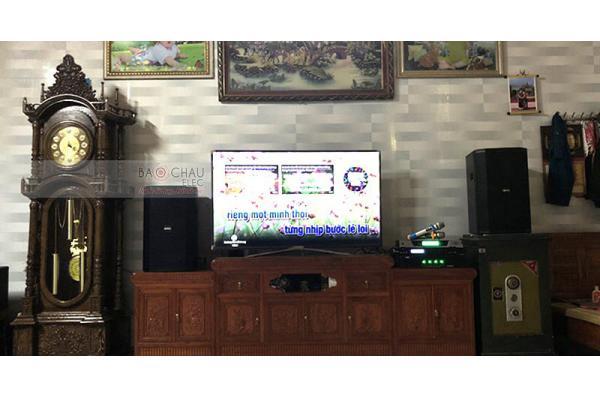 Dàn karaoke gia đình anh Phúc ở Yên Phong, Bắc Ninh (BIK BSP 412, SAE TX650Q, Bksound X5 Plus, BCE UGX12)