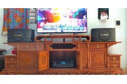 Dàn karaoke gia đình anh Thanh ở Phú Xuyên, Hà Nội (BIK BJ-S668, BJ-A88, California Pro 565M)