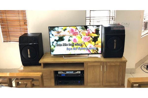 Dàn karaoke gia đình anh Tùng ở Từ Liêm, Hà Nội (BIK BS-999X, BIK VM620A, BKsound DSP-9000)