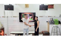 Lắp dàn karaoke gia đình chị Trinh ở Phú Nhuận (JBL CV1052T, BW 604 No8, BIK VM620A, DSP-9000, BBS B900)
