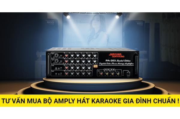 Tư vấn mua bộ amply hát karaoke gia đình chuẩn !!