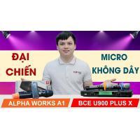 Micro không dây Alpha Works A1 (Loa kéo, loa di động)