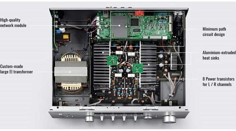 Amply Yamaha R N803 Silver linh kiện