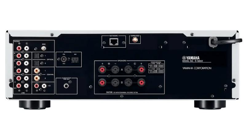 Amply Yamaha R N803 Silver mặt sau