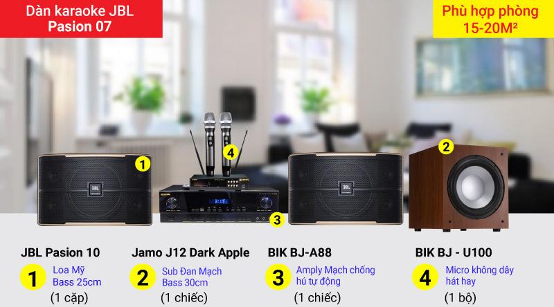 Dàn karaoke JBL Pasion 07