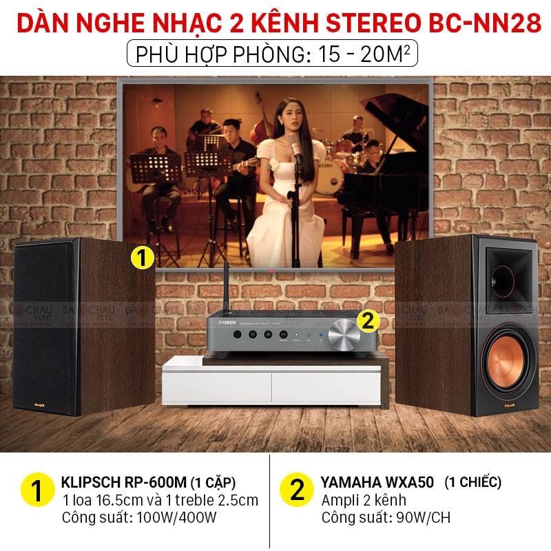 Dàn nghe nhạc 2 kênh Stereo BC-NN28