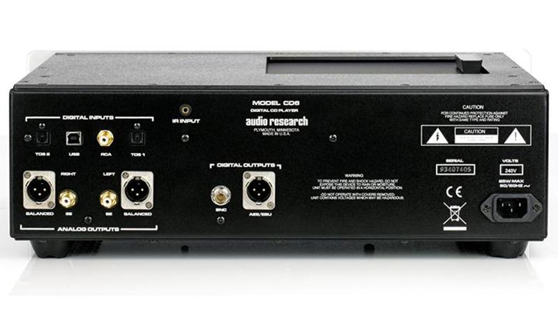 Đầu CD Audio Research Reference CD6 mặt sau