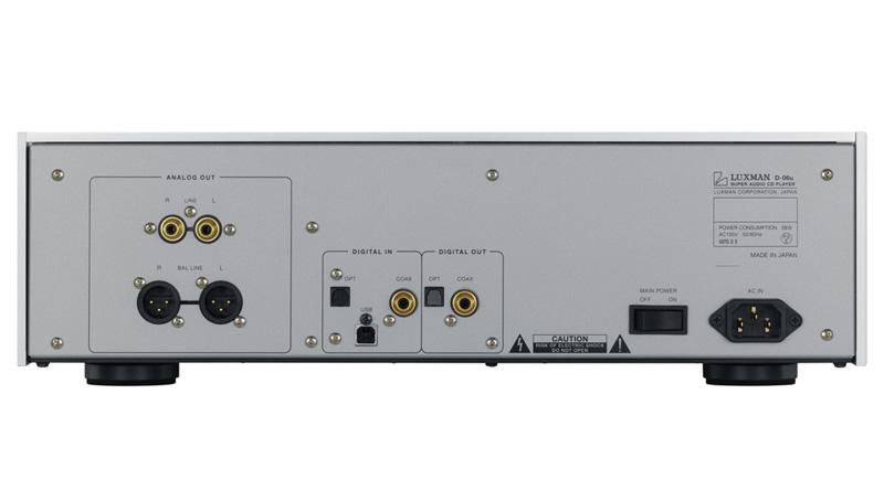 Đầu SACD/CD Luxman D-06U mặt sau