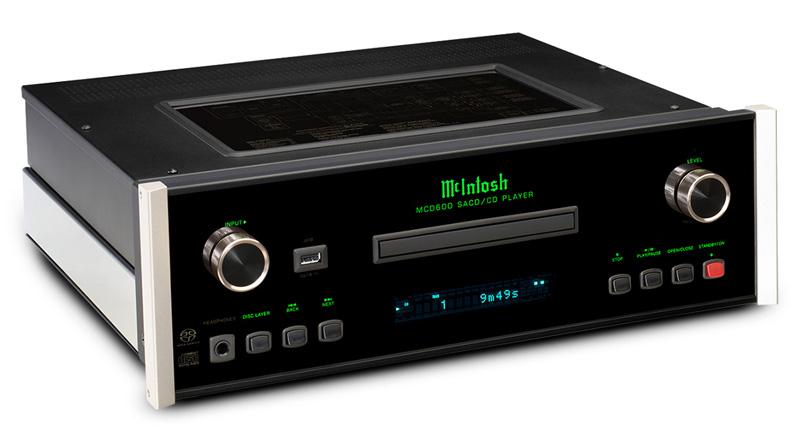 Đầu SACD/CD McIntosh MCD600 nghiêng phải