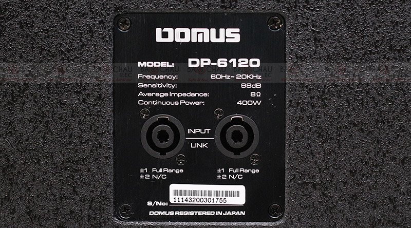 Cổng kết nối Loa karaoke Domus DP 6120