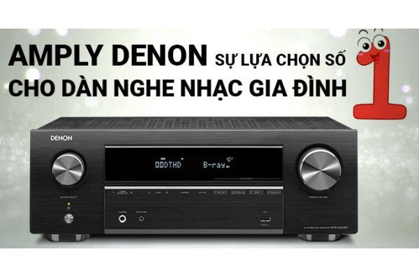 Amply Denon sự lựa chọn số 1 cho dàn nghe nhạc gia đình