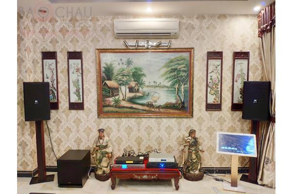 Dàn karaoke của anh Trung Hà tại Thủ Đức – HCM (KP4012,Xli2500,K9800,SPL120,KTV 22 Gold,Màn KTV 4Tb Plus,UGX12 Gold)