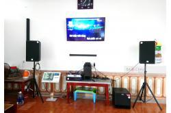 Dàn karaoke gia đình anh Đạt ở Quảng Xương, Thanh Hóa (At2000, TX212, VM620A, BPR-8500, BJ-U100, Plus 4TB, KTV 22 inch)