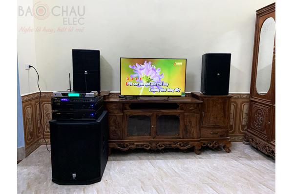 Dàn karaoke gia đình của anh Long tại Ba Vì - HN (JBL KP4012, VM620A, BPR-8500, BCE UGX12)