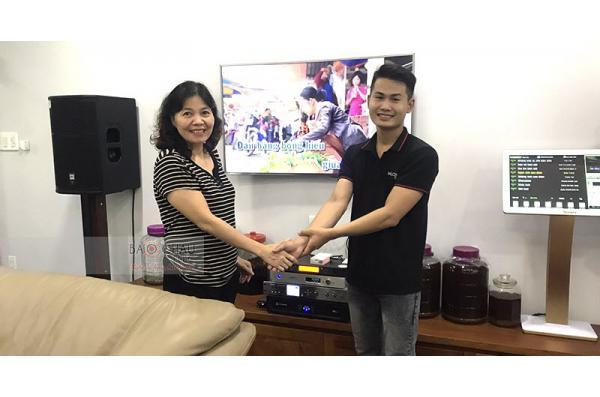 Dàn karaoke gia đình vip của gia đình cô Xuân ở Quận 7, HCM (JBL PRX412M, SPL120, KVS700, K9800, VIP3000, Plus 4TB, 22 inch)