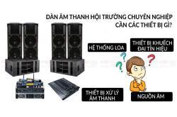 Hệ thống âm thanh hội trường chuyên nghiệp gồm những gì?