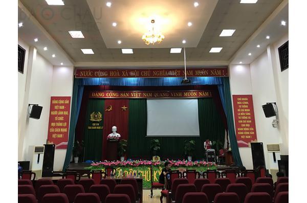 Lắp dàn âm thanh hội trường cho Trại giam Ngọc Lý – Bắc Giang (Pro 2.5, DP6120, Alto B18+, PQM13,..)