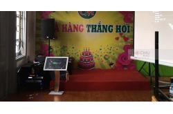 Lắp dàn karaoke cho nhà hàng Thắng Hói ở Từ Liêm, HN (AT2000, TX212S, VM620A, X6 Luxury, BJ-U100, Plus 4TB, KTS MS550,DALITE 120 inch)