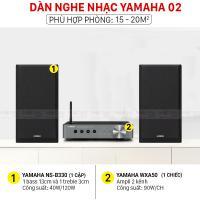 Dàn nghe nhạc Yamaha 02 (Yamaha NS B330+Yamaha WXA50)