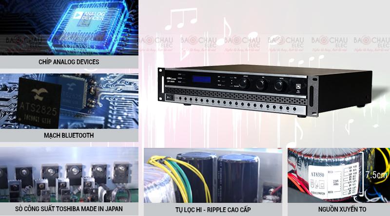 Đẩy liền vang BKSound DSP 3500 sử dụng linh kiện hiện đại