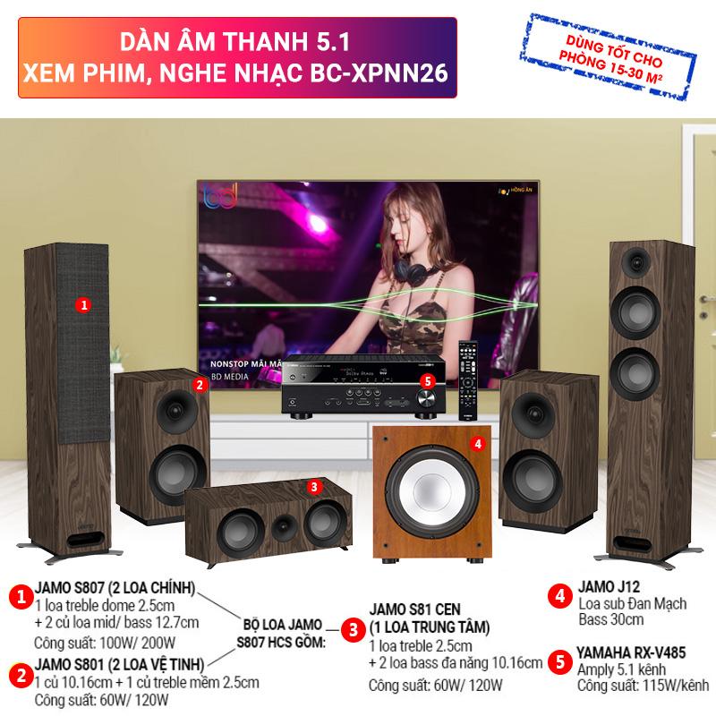 Dàn âm thanh 5.1 xem phim, nghe nhạc BC-XPNN26