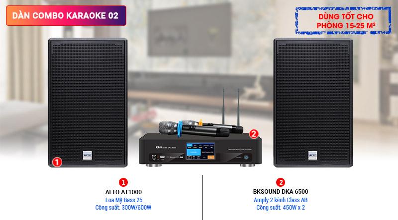 Dàn karaoke 02 (Alto AT1000 + BKSound DKA 6500)