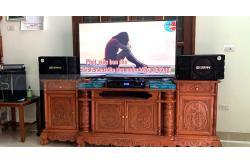 Dàn karaoke gia đình anh Bắc ở Ứng Hòa, Hà Nội (BIK BS-998X, BKsound DP8000)