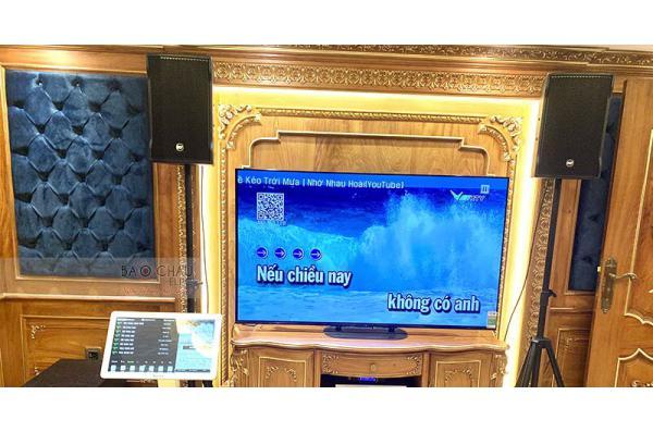 Dàn karaoke gia đình anh Đức ở Bình Thạnh, HCM (RCF Cmax 4110, SPL120, Xli2500, AAP K9800, JBL VM30)