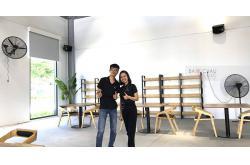 Lắp bộ dàn âm thanh cho quán cafe Trần Q ở Nhơn Trạch, Đồng Nai (301 seri 5, Bksound DKA 8500)