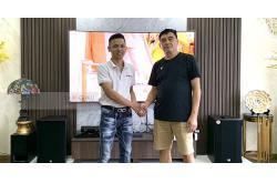 Lắp bộ dàn karaoke cao cấp cho gia đình chú Dũng ở Vinhome Hàm Nghi (RCF CMAX 4112, Famousound 7208, JBL KX180, JBL VM300)