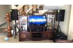 Lắp bộ dàn karaoke cho gia đình anh Định ở Hội An (Domus DP6120, Paramax 1000, Bksound DP8000)