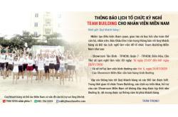 Thông báo lịch tổ chức Team Building cho nhân viên Bảo Châu Elec Miền Nam năm 2020