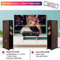 Dàn nghe nhạc 2 kênh Stereo NN27 (Klipsch 6000F, Denon 800NE)