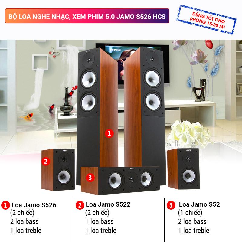 Bộ loa nghe nhạc, xem phim  5.0 Jamo S526 HCS
