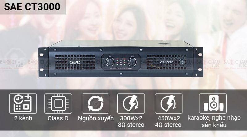 Cục đẩy SAE CT3000 thiết kế đẹp mắt