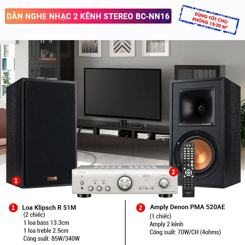 Dàn nghe nhạc 2 kênh Stereo BC-NN16