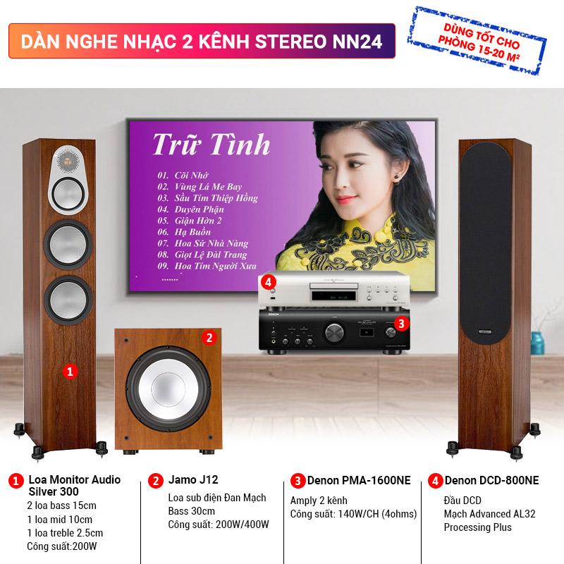 Dàn nghe nhạc 2 kênh Stereo BC-NN24