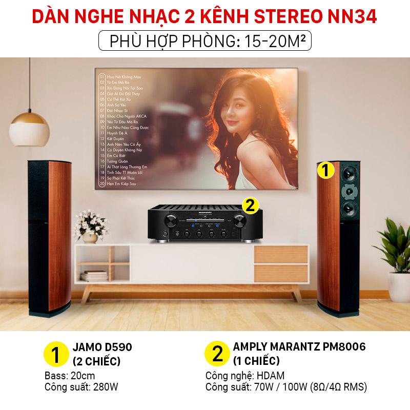 Dàn nghe nhạc 2 kênh Stereo NN34