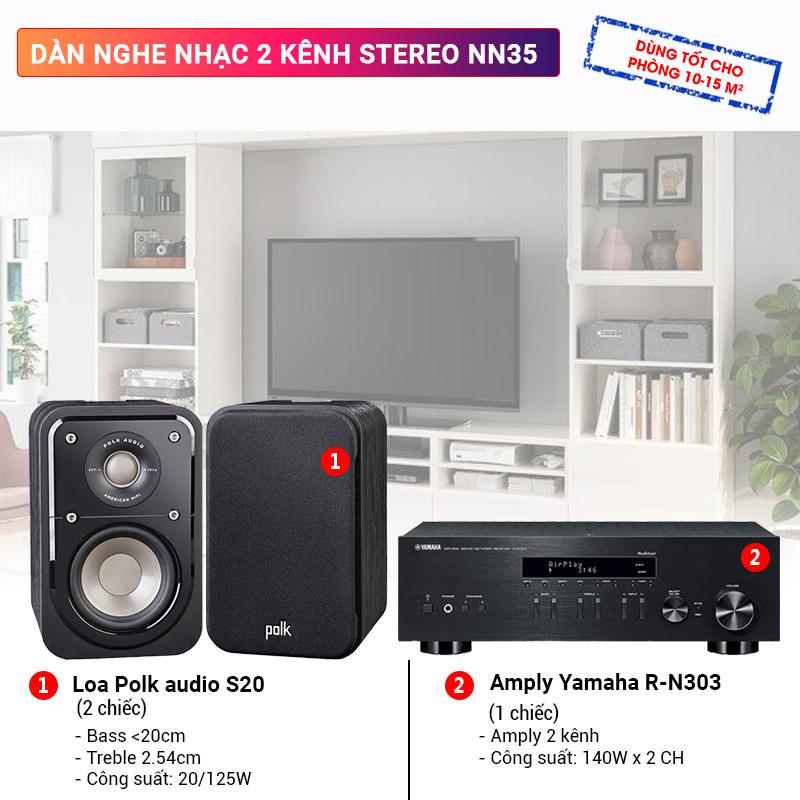 Dàn nghe nhạc 2 kênh Stereo NN35