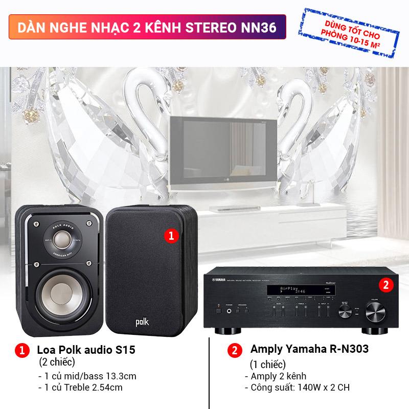 Dàn nghe nhạc 2 kênh Stereo NN36