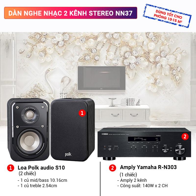 Dàn nghe nhạc 2 kênh Stereo NN37