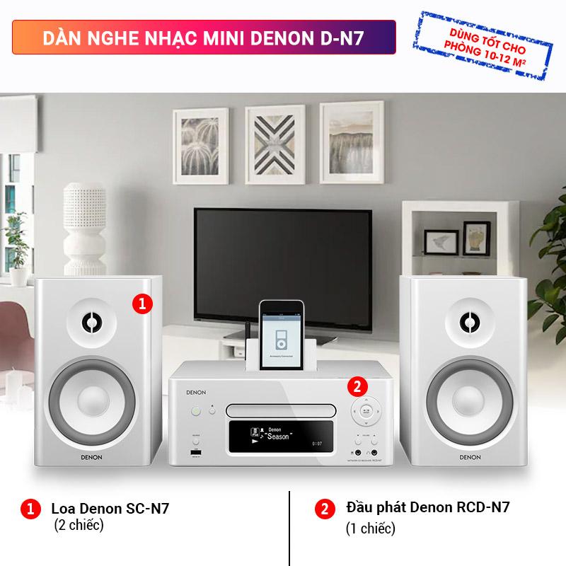 Dàn nghe nhạc mini Denon D-N7