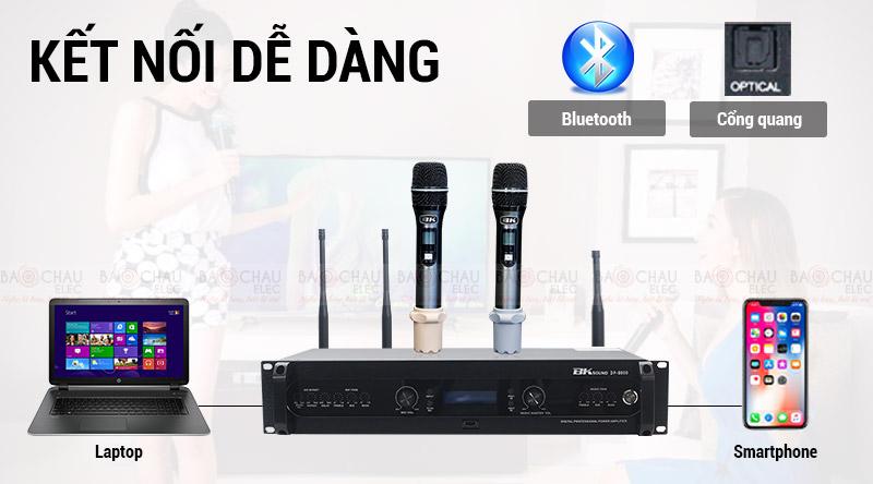 Đẩy liền vang kèm micro không dây BKsound DP8000