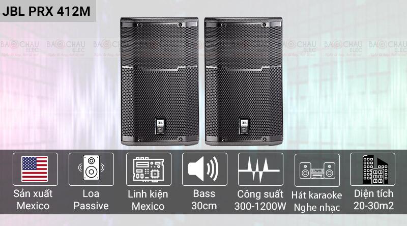 Loa JBL PRX sản xuất tại mexico