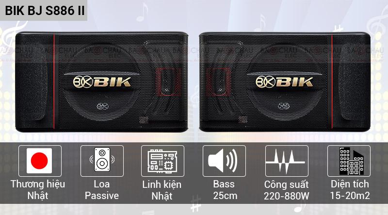 Loa karaoke Nhật BIK BJ S886II